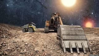 Mineração espacial (Thinkstock)