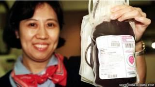 चीन में रक्तदान