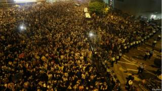 Protesto em Hong Kong (Foto Reuters)
