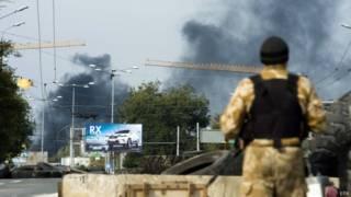 Бои близ аэропорта Донецка