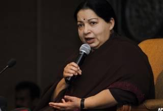 अन्नाद्रमुक नेता जयराम जयललिता