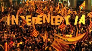 Protesto pela independência da Catalunha (AFP)