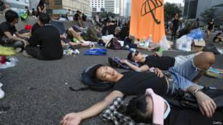 Демонтрации в Гонконге