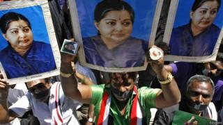 जयललिता के समर्थकों का विरोध प्रदर्शन