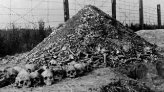 """Человеческие кости и черепа в нацистском концлагере """"Майданек"""""""