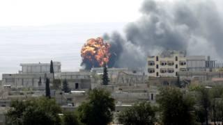 Обстрелы Кобане