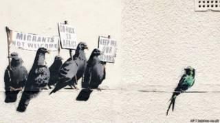 Mural de Banksy (Foto: AP I banksy.co.uk)