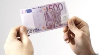Cédula de 500 euros (Thinkstock)