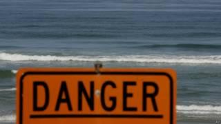 Закрытый пляж в Калифорнии в 2008 году
