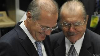 Renan Calheiros e José Sarney / Crédito: Agência Brasil