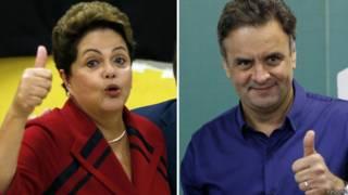 Dilma Rousseff e Aécio Neves (Reuters)