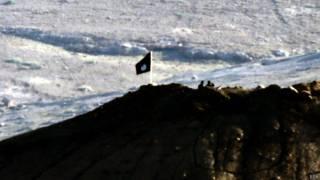 Черный флаг исламистов над Кобани