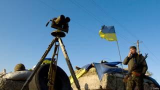 Украинский солдат на востоке страны