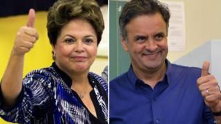 Dilma e Aécio / Crédito: AFP