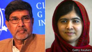 Kailash Satyarthi na Malala Yousafzai basangiye agashimwe k'amahoro Nobel kubera kwitangira abana