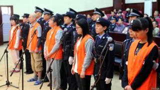 Приговоренные к смерти члены запрещенной секты в Китае
