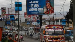 Propaganda de Evo Morales en El Alto