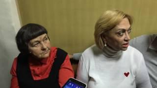 "Мать Савченко и депутат ""Батькивщины"" Александра Кужель"
