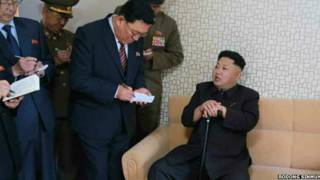 ied several images said to be of Kim Jong-un's visit