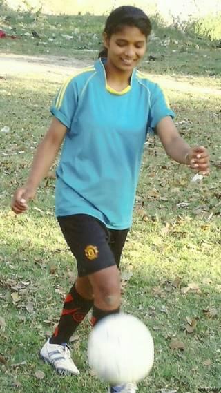 बिहार की फ़ुटबॉल खिलाड़ी अमृता