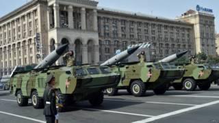 Военный парад в Киеве в День независимости Украины 24 августа 2014 года