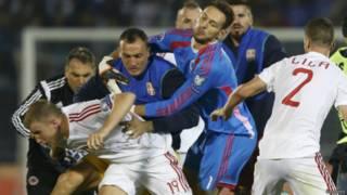 सर्बिया-अल्बानिया मैच