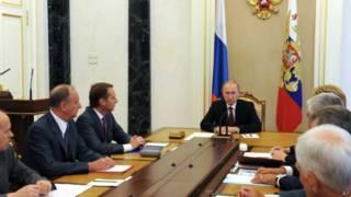 Владимир Путин ведет заседание Совета безопасности РФ 1 октября 2014 г.