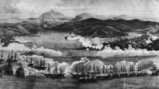 Британские и французские корабли у Севастополя в 1854 году