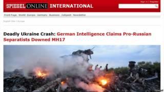 Веб-страница журнала Spiegel