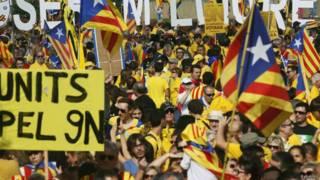 Manifestación pro-independencia.