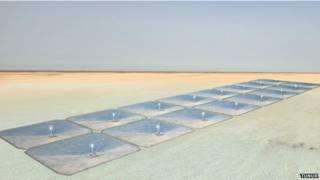 突尼西亞的太陽能發電板