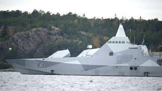 """Корвет """"Висби"""" в Стокгольмском архипелаге"""