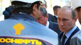 """Владимир Путин на нефтекомплексе """"Роснефти"""""""