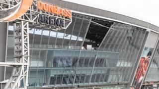 Одна из стеклянных секций стадиона