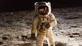 Buzz Aldrin na missão Apollo 11 (Nasa)