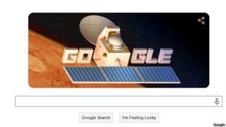 मंगलयान पर गूगल डूडल
