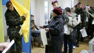 Избирательный участок в Киеве