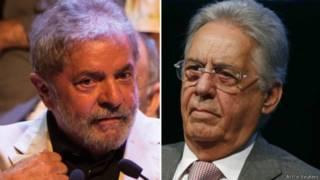 Fernando Henrique Cardoso e Lula (AFP e Reuters)