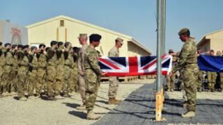 အာဖဂန်မှာ ဗြိတိသျှ စစ်စခန်းရုပ်သိမ်းစဉ်