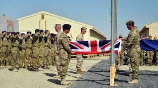 Британские военные на базе Кэмп Бастион, провинция Гильменд, Афганистан