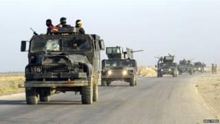 इराक़ में आईएस का हमवी से हमला