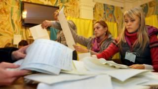 Голосование на Украине