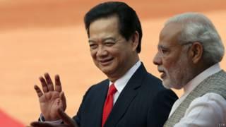 वियतनाम के प्रधानमंत्री गुयेन टैन डंग और नरेंद्र मोदी