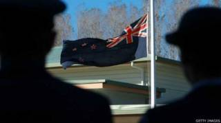 新西蘭國旗內嵌有英國「米字旗」。