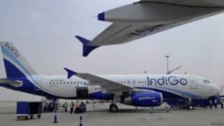 Самолет индийской авиакомпании