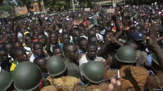 Protestos em Burkina Faso