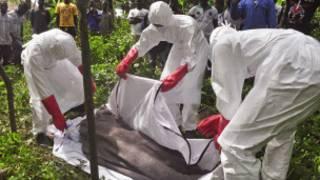 Jami'an lafiya na aiki akan gawar mai cutar Ebola
