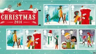 2014圣诞纪念邮票