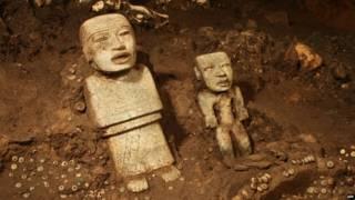 मेक्सिको के प्राचीन शहर टियोटिवाकान में मिले पुरातात्विक अवशेष