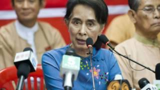 Bà San Suu Kyi, lãnh tụ phe đối lập tại Miến Điện